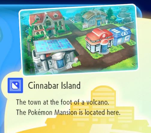 Pokemon Let's Go - Cinnabar Island / Pokemon Mansion Guide